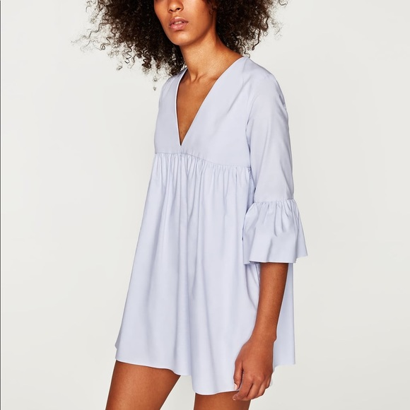 af614e313bd NWT Zara Sky Blue Babydoll Romper Jumpsuit